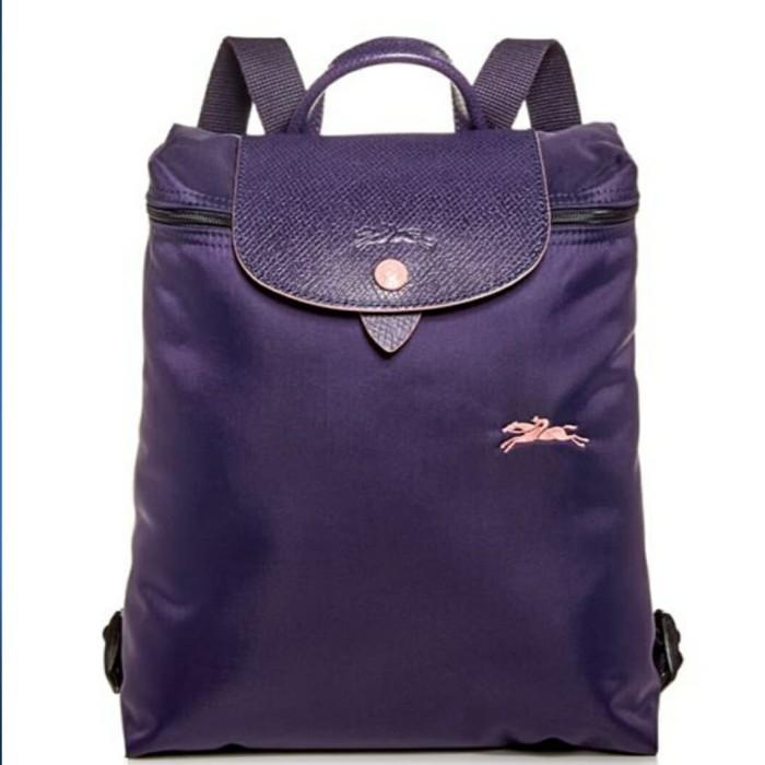 5f6239aa69 Jual Tas Longchamp LC Le Pliage Club backpack bilberry sz 25x30x10cm ...