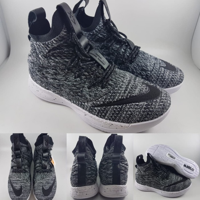 d8cc1cde3662 Jual Sepatu Basket Nike Lebron 15 High Ashes Oreo Grey Black Abu ...