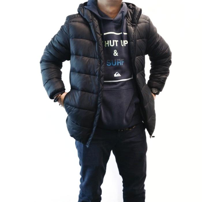 harga Jaket pull and bear hoodie puffer quilted jacket original Tokopedia.com
