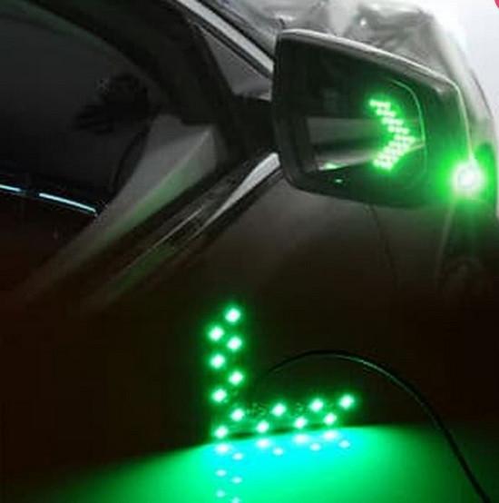 Terlaris Lampu Sein LED Spion Mobil Hijau