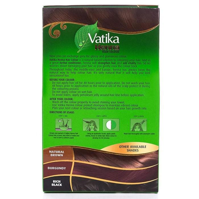 Jual Vatika Henna Hair Colour Natural Brown 1 Box Isi 6 Beauty