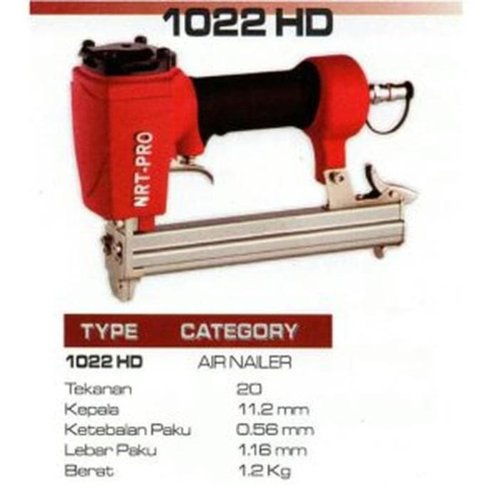 PROMO Mesin Paku Tembak Staples NRT PRO 1022J HD AIR Nailer Stapler
