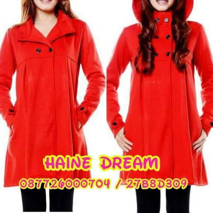 Jual Jaket Coat Baju Hangat Wanita Seongnyu Hitam Merah Full Furing ... e384189766