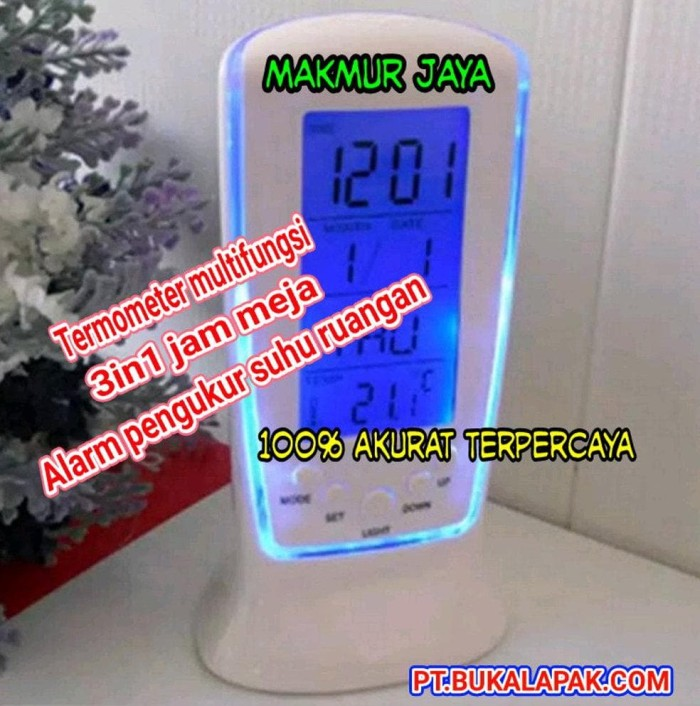 Jual termometer multifungsi alat pengukur suhu ruangan jam meja ... 123b1d1dbc