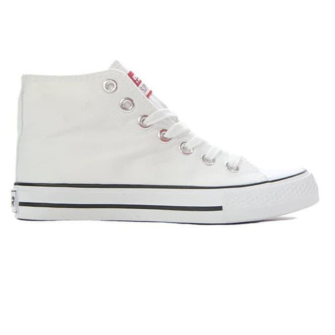 Faster Sepatu Sneakers Kanvas Wanita 1603-04 - Putih - Putih, 36