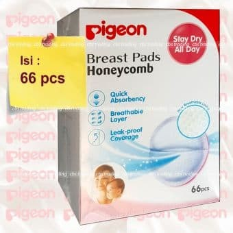 Pigeon Breast Pad isi 66 pcs - Breastpad Honeycomb 66pcs