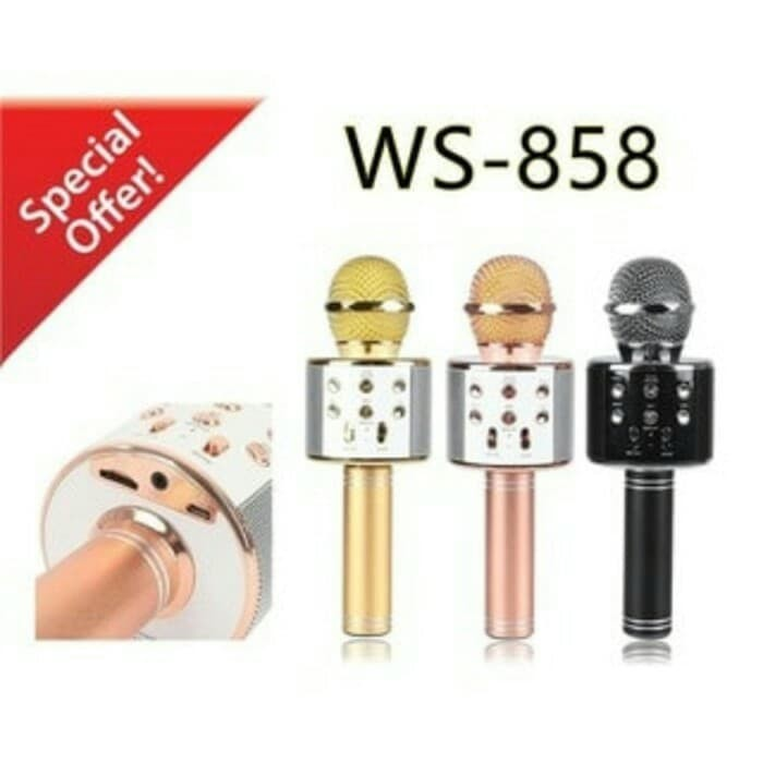 Foto Produk mic karaoke bluetooth WS858 wireless dari WMP01 online
