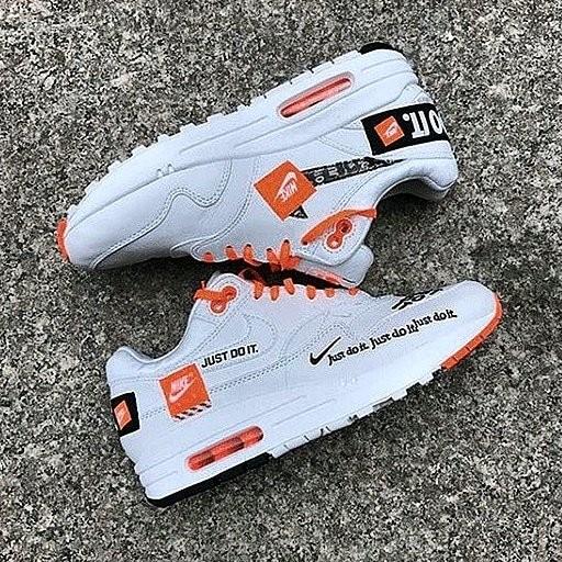 51f367c2f2e Jual Nike Air Max One Just Do It White Orange - Dionette