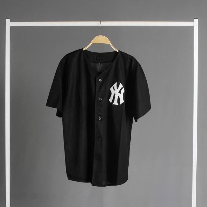 promo code f05f1 5f98d Jual Original NY (Plain Black) Baseball Jersey untuk Pria & Wanita - Kota  Cimahi - suapparel co.   Tokopedia
