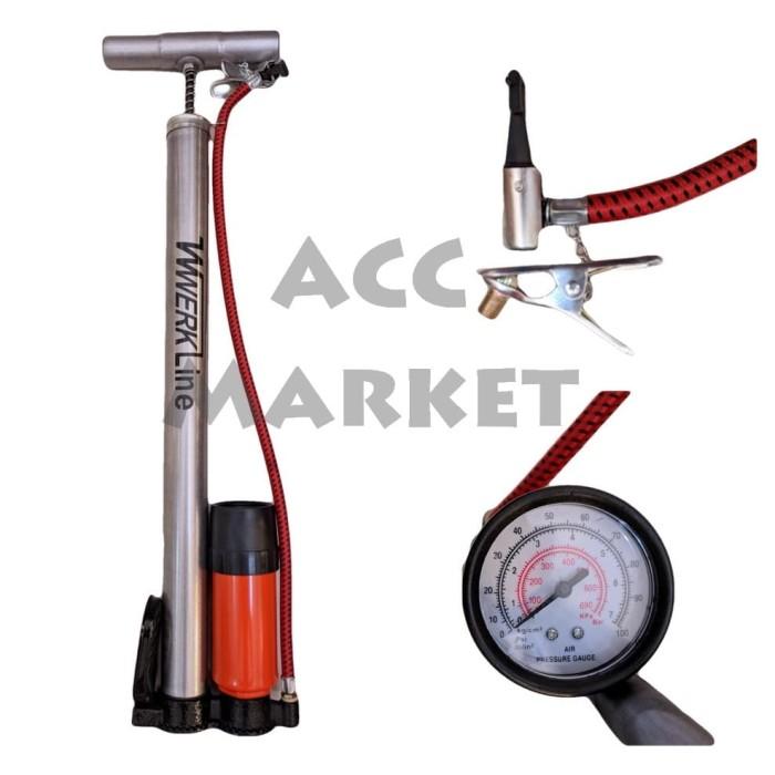 harga Pompa angin ban sepeda motor mobil bola tabung meter manual tangan Tokopedia.com