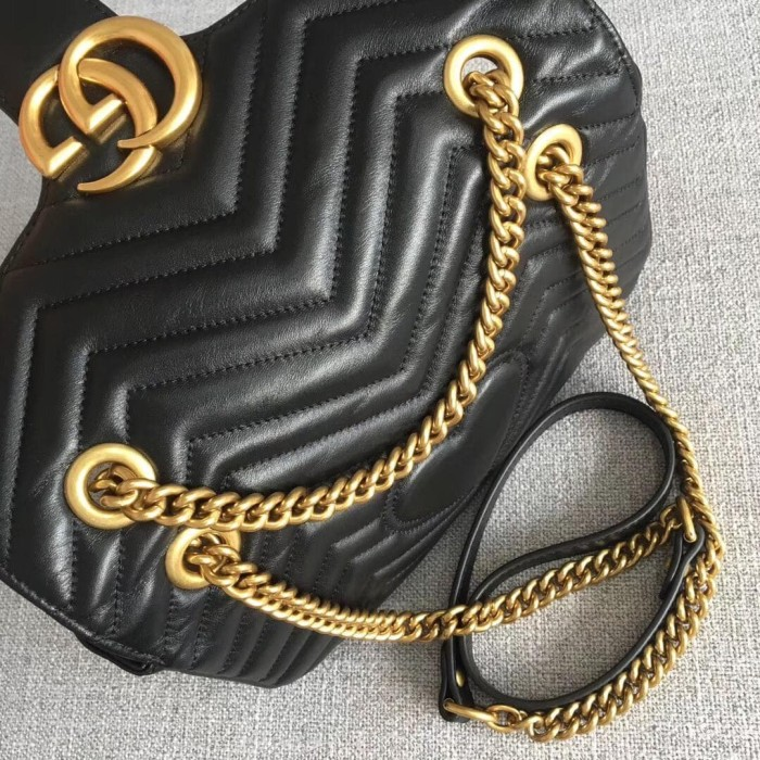 187f5c460b41 Jual Gucci Marmont Medium Black - Hitam - Kota Batam - carveyshoes ...