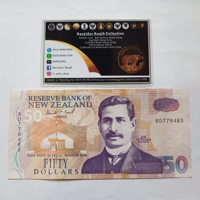 harga Uang kuno polymer 50 dollar nzd new zealand tahun 1999 grade unc mulus Tokopedia.com
