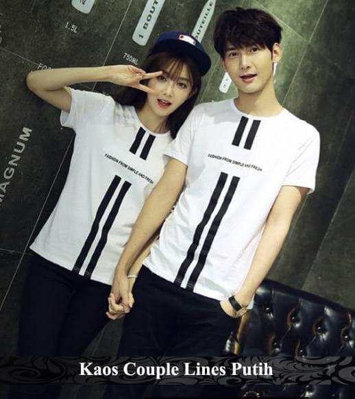 Foto Produk kaos couple   kaos kembar   kaos pasangan   lines couple   tshirt dari koleksi baju couple