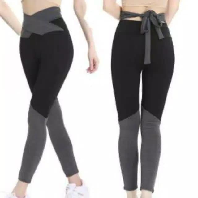 Jual Celana Legging Senam Sport Olahraga Wanita Tali Pinggang Gym Yoga Abu Hitam Xl Jakarta Barat Kendas S Shop Tokopedia