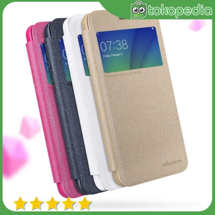Nillkin Sparkle Window Case for Oppo A57/A39 - Hitam -H2564