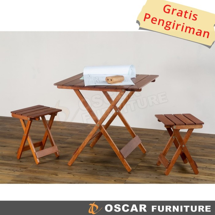harga Oscar furniture - dining set tivoli - 1 meja makan & 4 kursi lipat Tokopedia.com