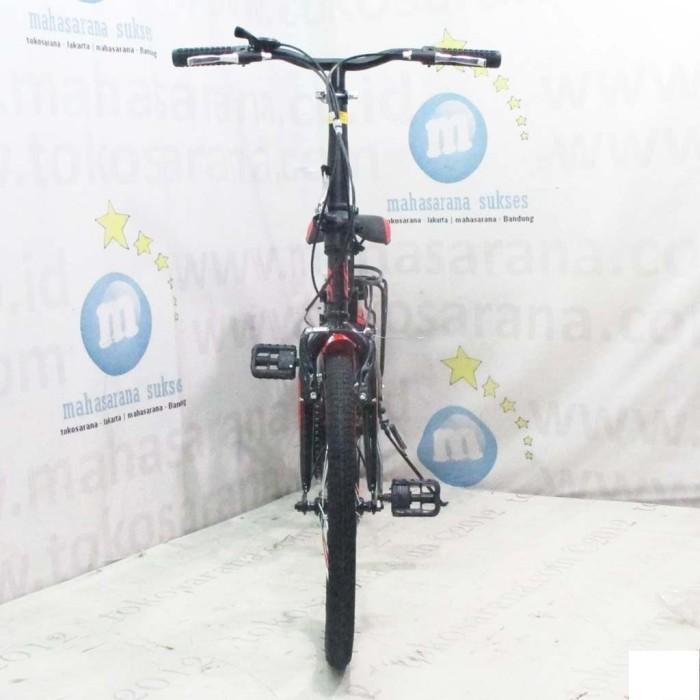 Sepeda Lipat Evergreen EG120-8 FB Remaja-Dewasa 20 Inci Rem V-Brake