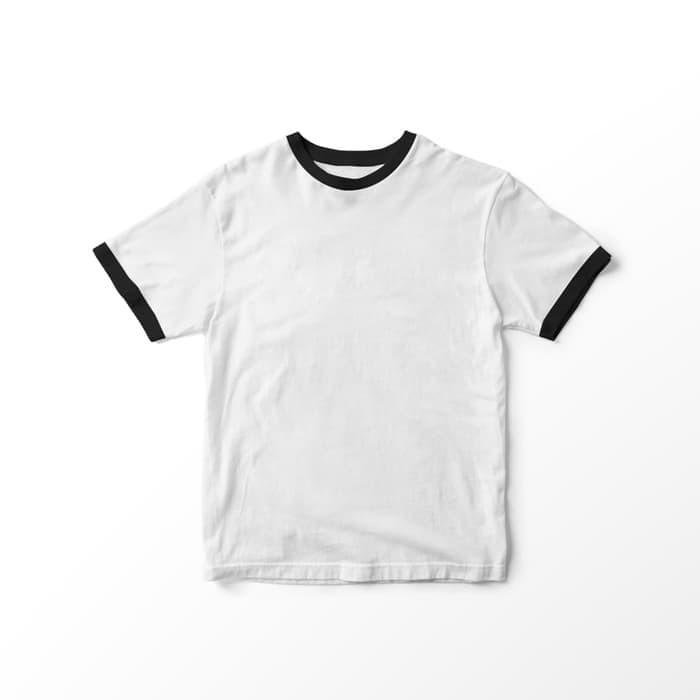 Jual Baju Kaos Polos Line Warna Ringer Tee Cewek Cotton T Shirt Cewe List Hitam Jakarta Barat Anh Shop27 Tokopedia