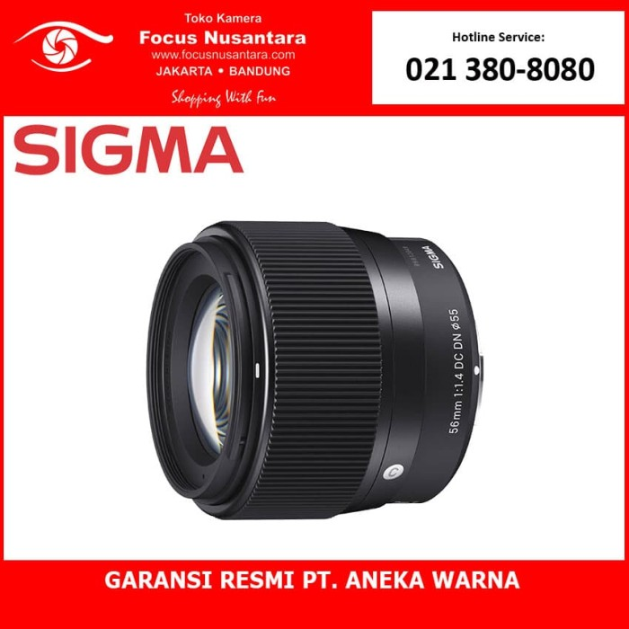 harga Sigma 56mm f/1.4 dc dn   c (sony e) Tokopedia.com