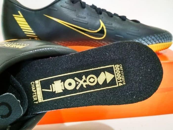 92aa8585085 Jual Sepatu Futsal Nike Mercurial CR7 IC Hitam Gold GRADE IMPORT ...