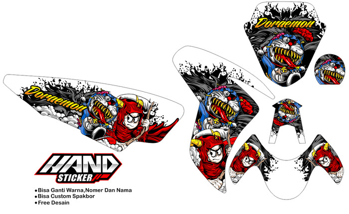 Download 77 Gambar Stiker Doraemon Zombie Paling Keren