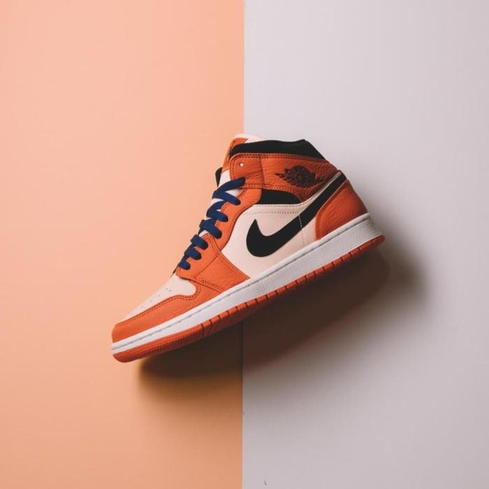 timeless design 9a86f c09ab Sepatu Hype Nike Air Jordan 1 Mid SE Team Orange Original 100% BNIB