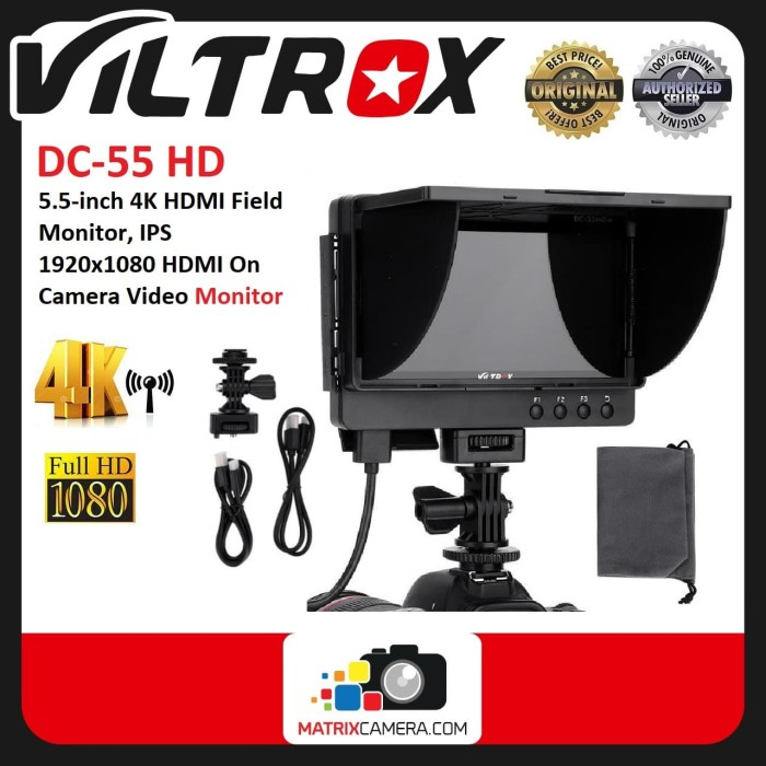 Foto Produk Viltrox DC-55HD 5.5 Inch 4K HDMI Full HD Display LCD Monitor dari MatrixCamera