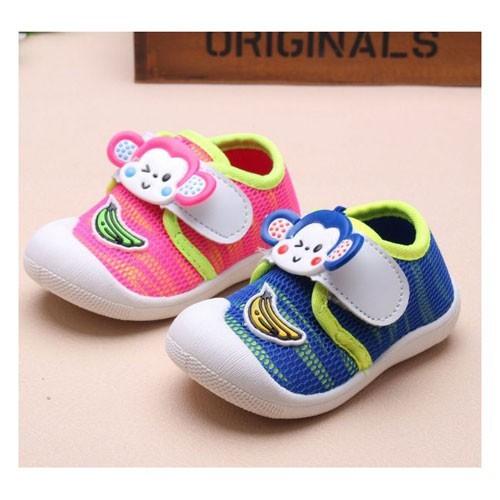 Prewalker Sepatu Bayi Monkey Banana Shoes Kanvas Anak Import SBAB14231