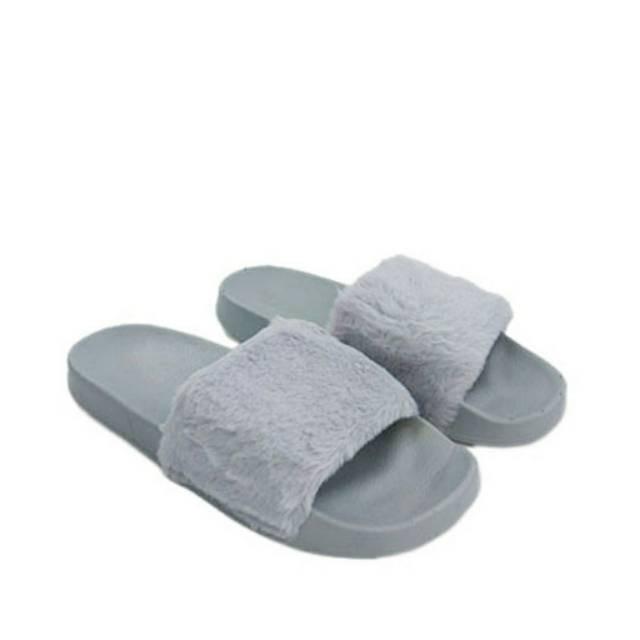 5b9cf3d60e7f Slip Sandal Flip Flop Sandals Wanita Terbaru Slop Bulu Pg181 SBAB10586