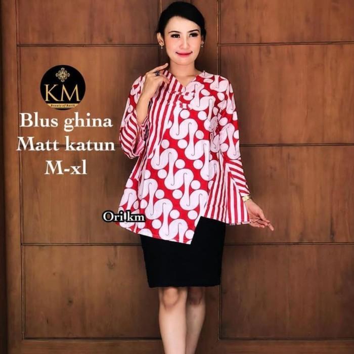 Jual Batik Rifa Bbr05 Atasan Batik Wanita Blouse Batik Mixy Soft M L Xl Kota Pekalongan Batik Rifa Official Tokopedia