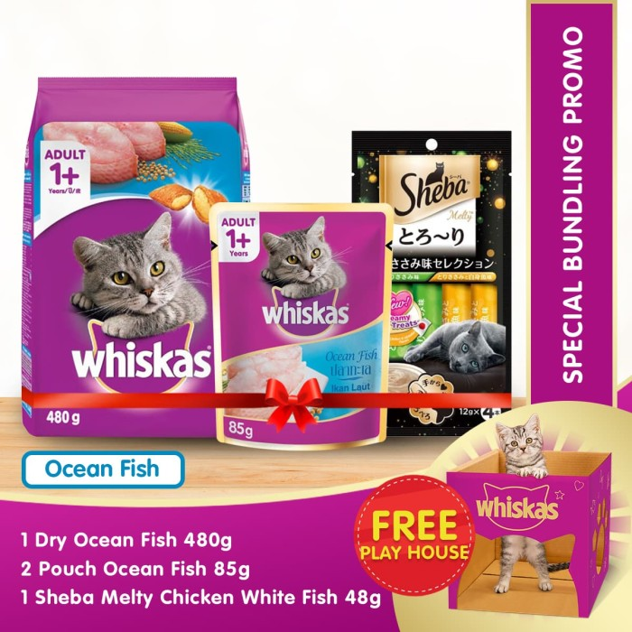 harga [promo bundling]whiskas ocean fish sheba melty white fish Tokopedia.com