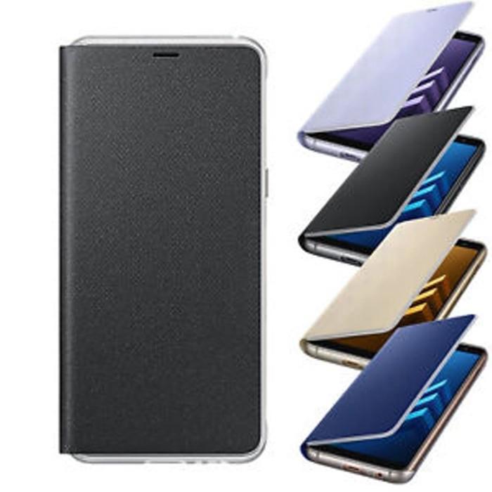 half off e0430 abdfd Jual case SAMSUNG A8 plus Neon Flip Cover Galaxy A8 Plus 2018 - Kota  Tangerang - Tokobelanjaku   Tokopedia