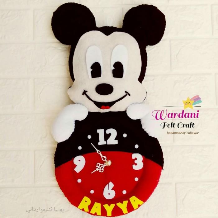 Jual Jam Dinding Flanel karakter Mickey Mouse - wardani.olshop ... b811fc262a