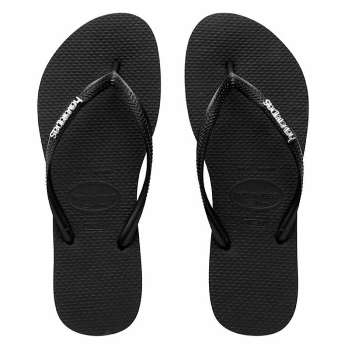Promo HAVAIANAS SLIM LOGO METALLIC 2976-BLACK/