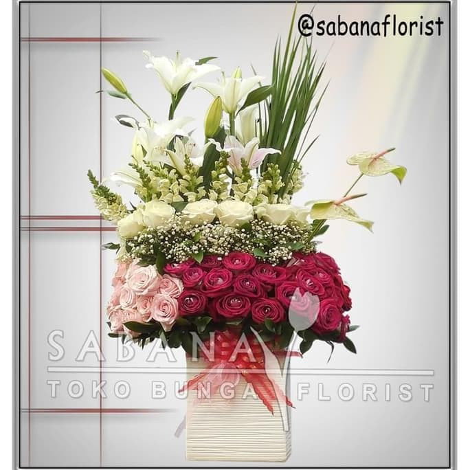 Jual Rangkaian Bunga Vas Bunga Ulang Tahun Bunga Ultah Kado