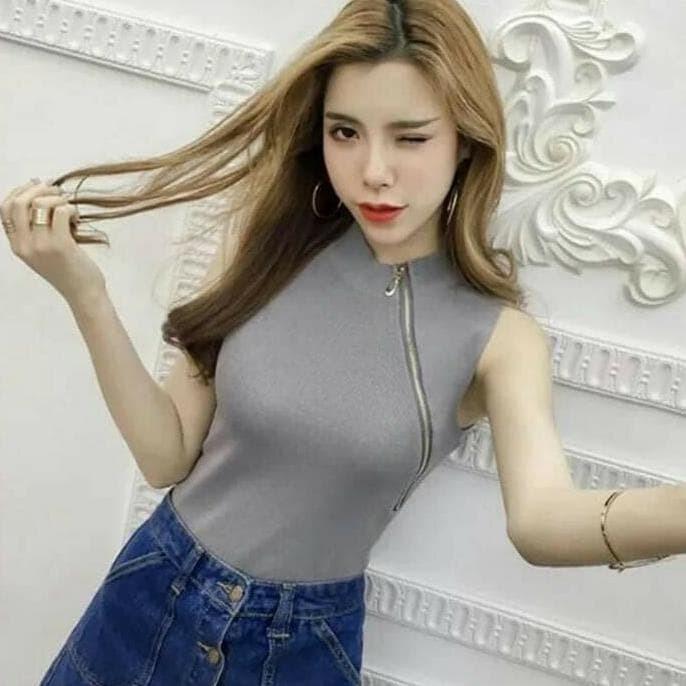 Sophie Top / Atasan Rajut Import / Baju Cewek / Bkk / Baju Murah -