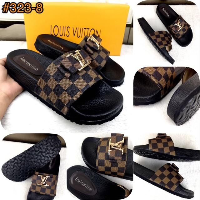 7895209468cc Jual Louis Vuitton Slide Ribbon Casually Sandals SS18 (170rb)  323-8 ...