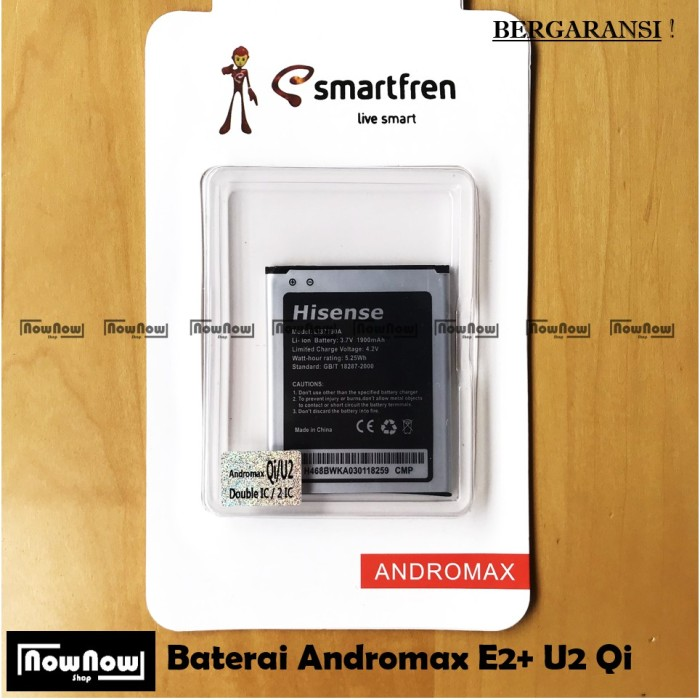 Baterai Smartfren Andromax E2 Plus Qi U2 4G LTE Original Batre