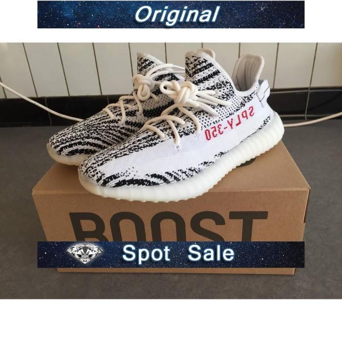 814346f3c Jual Sepatu Model Adidas Yeezy Boost V2 Sply 350 Zebra Warna Hitam ...