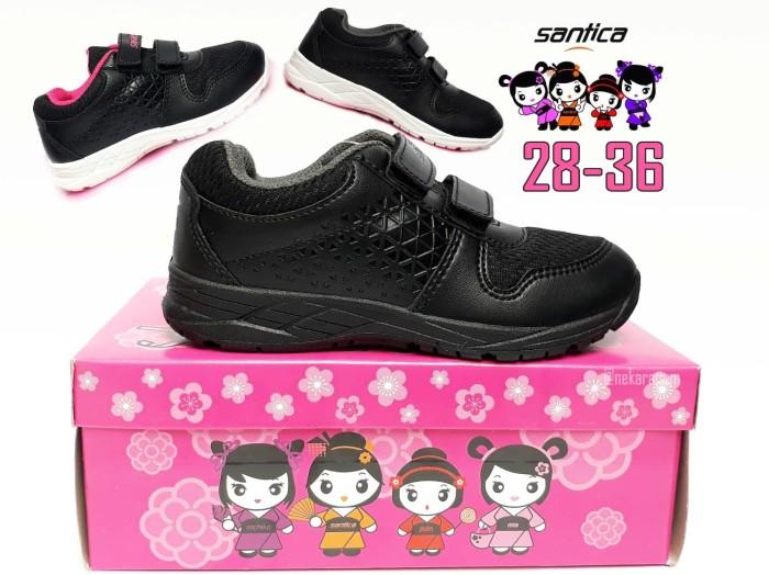harga Sepatu sekolah anak hitam velcro santica hiroshi sepatu sd kets Tokopedia.com