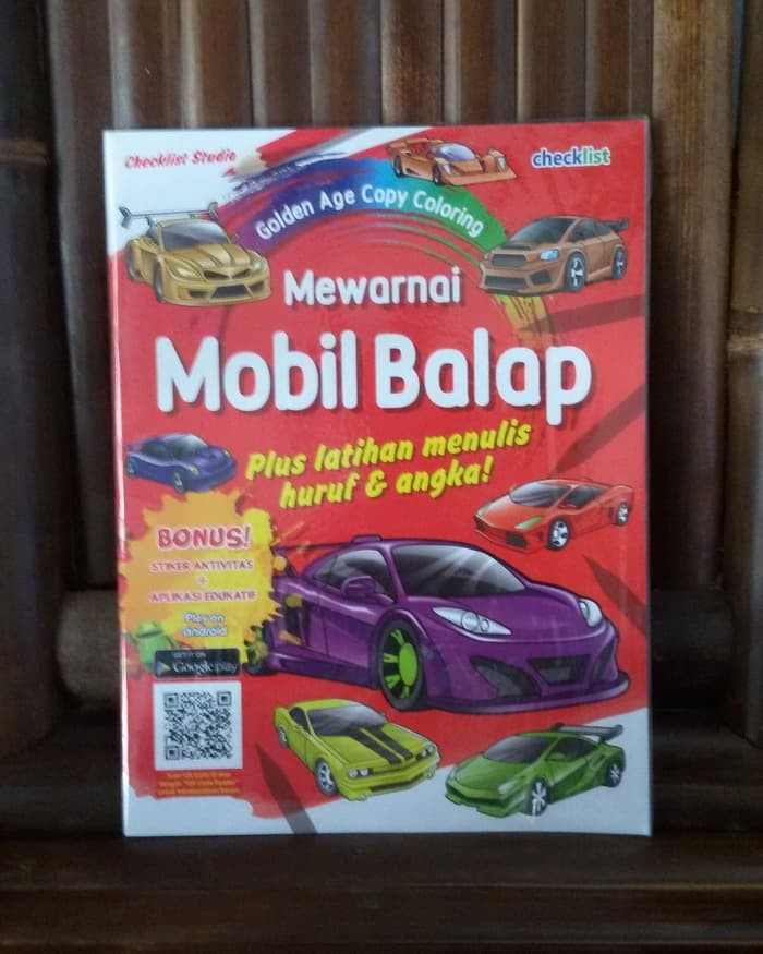 Jual Golden Age Copy Coloring Mewarnai Mobil Balap Kota Yogyakarta