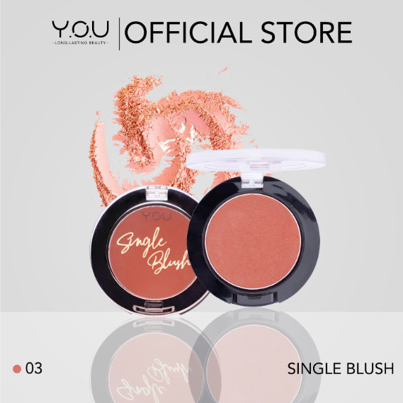 Foto Produk Y.O.U Single Blush On - pink dari tokolingli