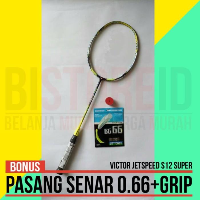 harga Raket Badminton Victor Jetspeed S12 Pasang Senar Tas dan Grip Tokopedia.com