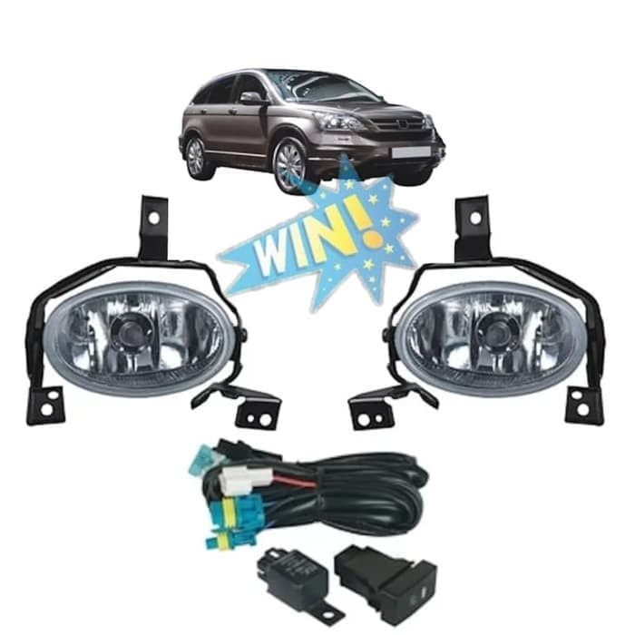 Foglamp Honda cRV 2010-2012 fog lamp CR-V Kaca