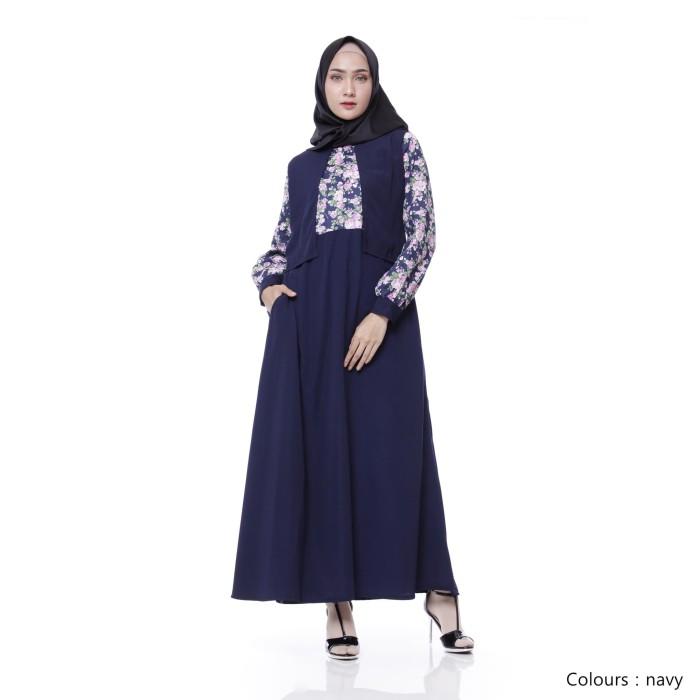 Gamis Wanita Original | Marwa Dress | Gamis Syari Original - Blue