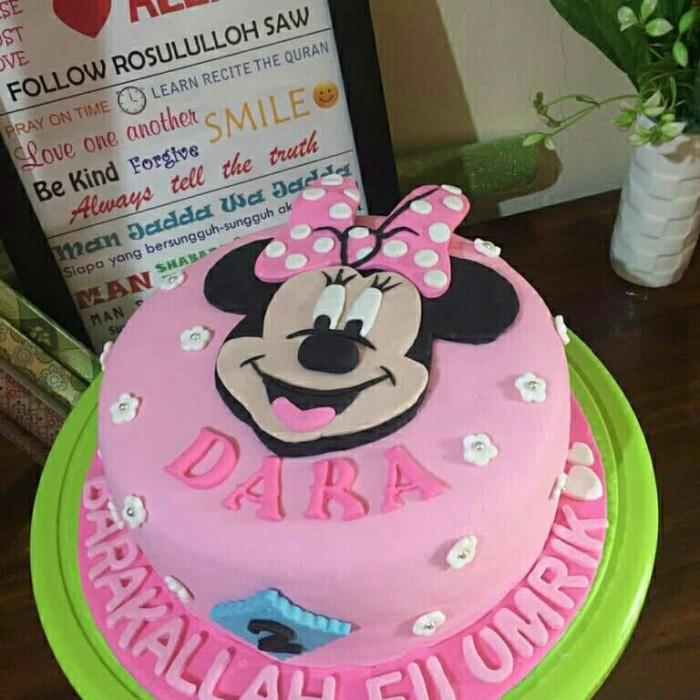 Jual Kue Ultah Mickey Mouse Cake Minnie Mouse Cake Fondant Minnie Mouse Kota Tangerang Selatan Baju Alya Shop Tokopedia