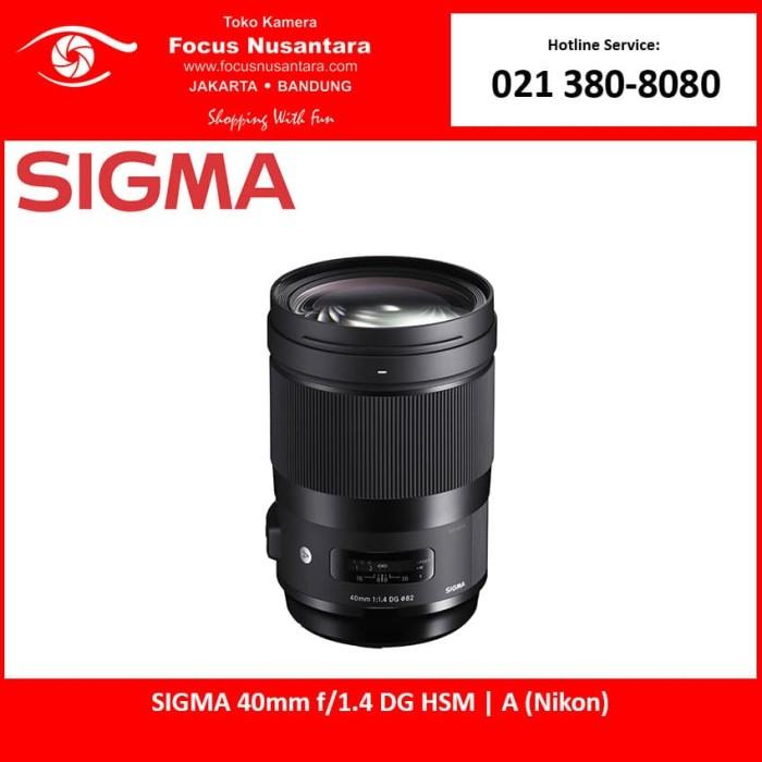 harga Sigma 40mm f/1.4 dg hsm   a (nikon) Tokopedia.com