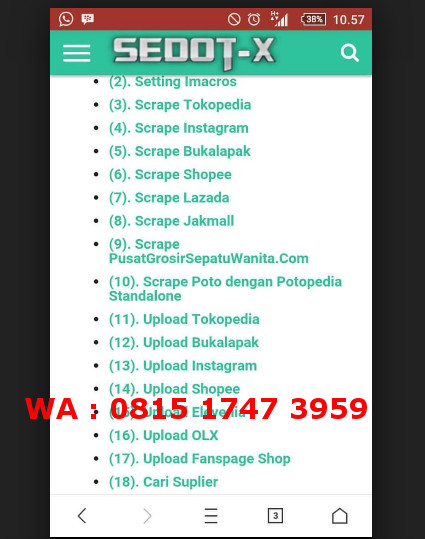 Jual Dropship Tool - SedotX (Download/Upload Produk dari T0k0pedia,Sh0pee,)  - DKI Jakarta - Grestim Shop | Tokopedia