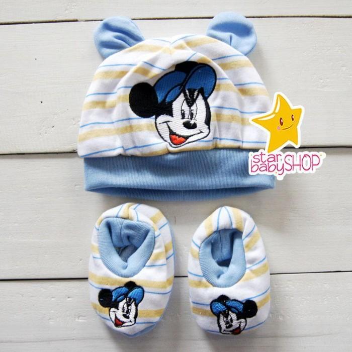 Topi Bayi Kaos Kaki Bayi Sepatu Bayi Set Newborn Topi Bayi Kaos Kaki 8151c167e1