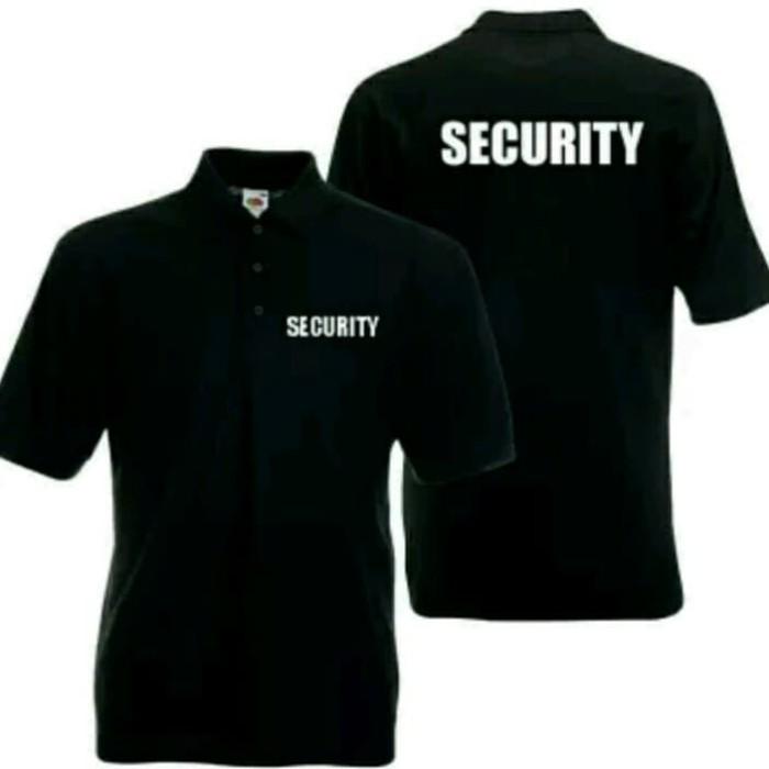 Jual Polo Shirt Kaos Security Tulisan Depan Belakang Hitam Xl Kota Bekasi Sifa Clothes Tokopedia